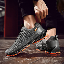 Mens shoes summer new breathable warrior fish scales running trend wild woven sports
