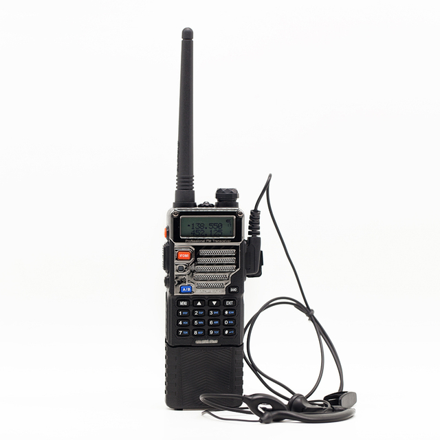 BAOFENG New Dual Band UV-5RE Plus UHF Rádio em Dois Sentidos com 3800 mAh da bateria/VHF128 Canais FM Ham walkie talkie Transceptor