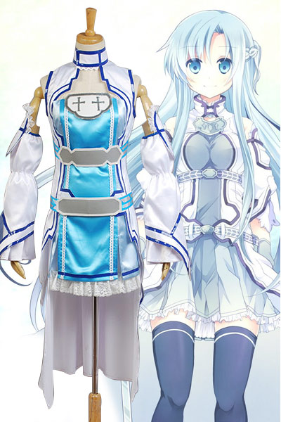 Sword Art Online Cosplay ALO Alfheim Online Yuki Asuna Cosplay Full Set Uniform Costume