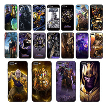 Marvel Thanos black soft phone cases for iphone 7 8 6s 6 plus cover x xr xs max 5s se 10 silicone Cool Design Patterned shell