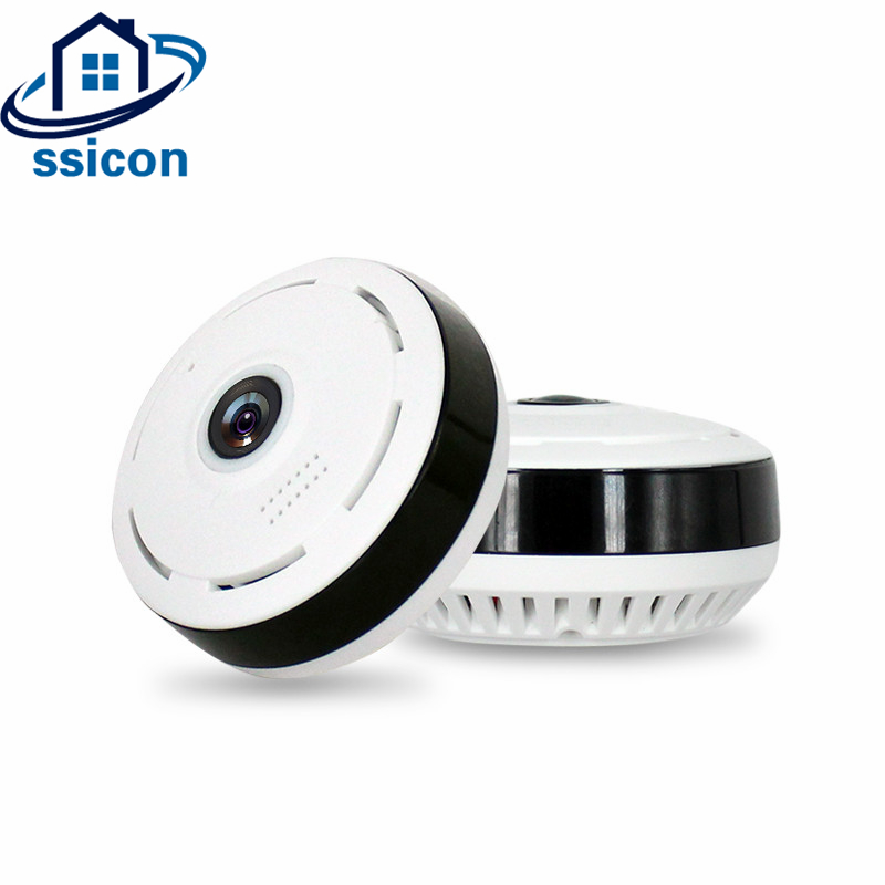 SSICON 960P 1.44mm Lens Fisheye WIFI VR Camera Wireless 1.3MP Home IP Camera Wi-fi 360 Degree Home Camera With Two Way AudioSSICON 960P 1.44mm Lens Fisheye WIFI VR Camera Wireless 1.3MP Home IP Camera Wi-fi 360 Degree Home Camera With Two Way Audio