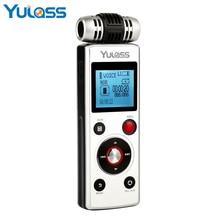 Yulass 8 GB Grabadora de Voz Digital con Doble Fuente de Alimentación, Grabación Automática, Protección de Contraseña, la Reproducción a Velocidad Variable función