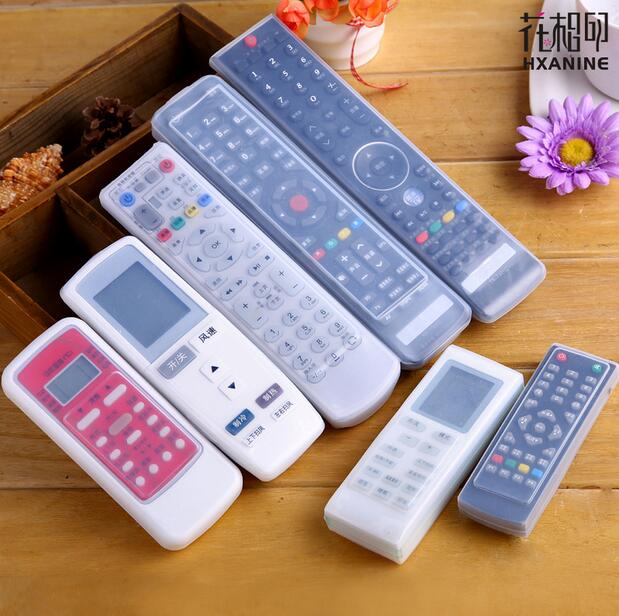 Silicone TV Remote Control Case Cover Video Mi Apple AC Air Condition Dust Protect Storage Bag Anti-dust Waterproof