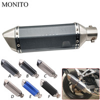 Universal Motorcycle Akrapovic Exhaust Dirt Bike Escape Modified Exhaust For KAWASAKI Versys 1000 ZX6R ZX636R ZX6RR ZX9R ZZR600