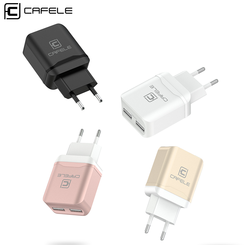 CAFELE путешествия USB ЕС Зарядное устройство Plug 2.4A двойной выход универсальный адап ...