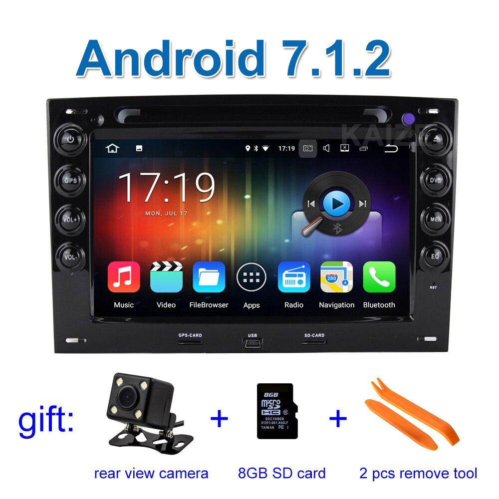 1024*600 2 GB RAM Android 7.1.2 Lecteur DVD de Voiture pour Renault Megane 2 2003-2010 avec Radio WiFi BT GPS