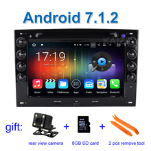1024*600 2GB RAM Android 7.1.2 Car DVD Player for Renault Megane 2 2003-2010 with Radio WiFi BT GPS