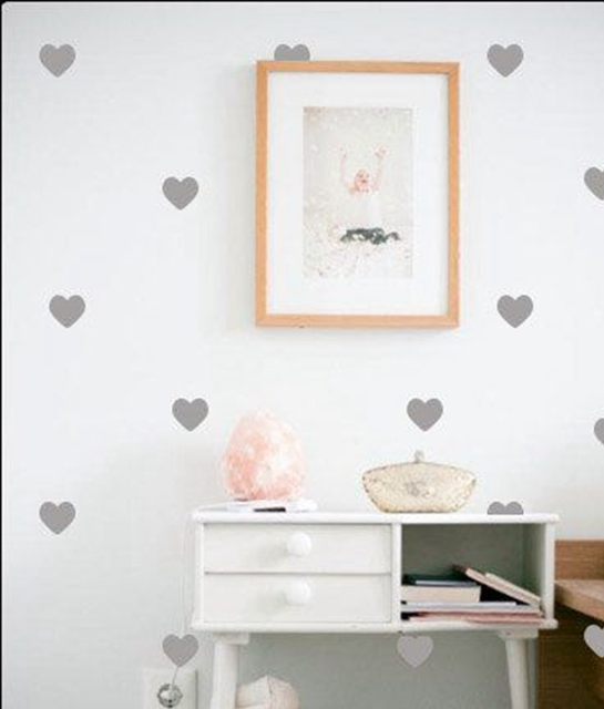 Mini Hearts Removable Wall Stickers