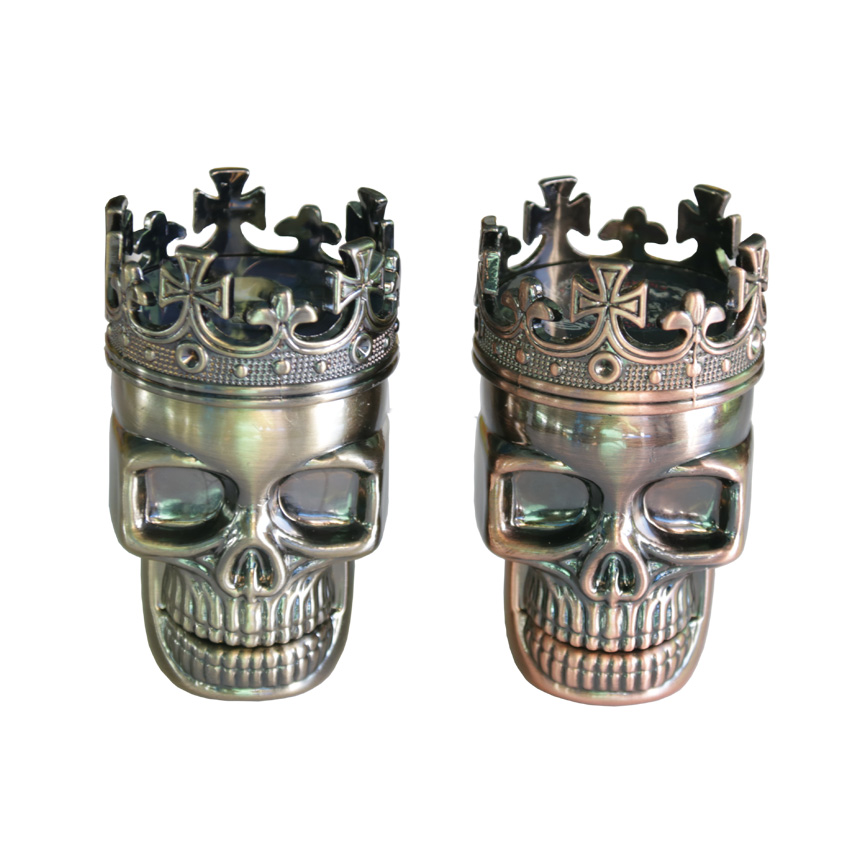 1PC Creative King Skull Herb Grinder 3 Parts Cigarette Rolling Tool - Household Merchandises - Photo 3