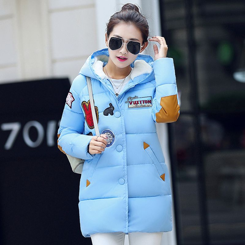 New Plus Size XXXL Winter Women Cotton Padded Jacket Long Thick Parkas Female Hooded Cotton Padded