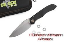 Green thorn Anax ceramic bearing tactical folding knife D2 blade aluminum handle camping hunting outdoor knife pocket EDC tools