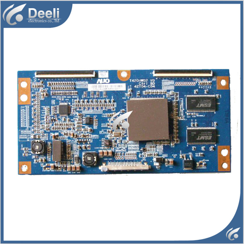 Working good 95% new original for Logic board T420HW02 V0 CTRL BD 42T04-C04 T-CON board 50h2 ctrl eax43474401 ebr41731901 logic board printer t con connect board