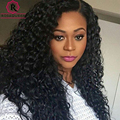 250% Lace Front Human Hair Wigs With Baby Hair Pre-Plucked Full Lace Human Hair Wigs Black Women Deep Curly Indian Virgin Hair