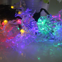 Colorful LED String Lights 30 LEDs Morning Glory Night Light Solar Powered Fairy Lights for Garden Christmas Party Decoration
