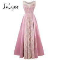 Julyee Evening maxi lace dress o neck sleeveless ball gown ladies plain long formal elegant vintage party women plus size 4xl