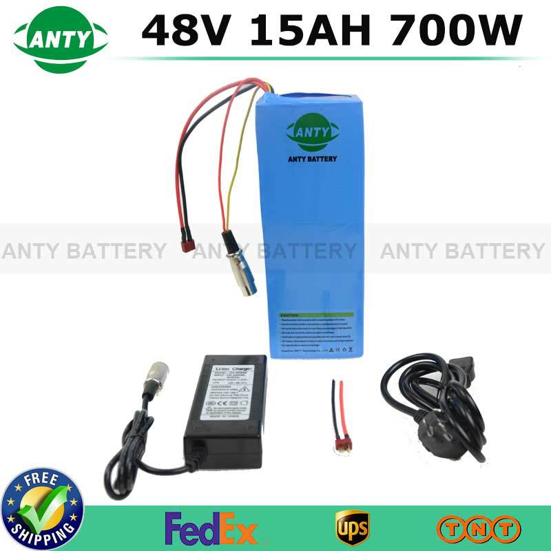 48V 15Ah Bike Lithium Battery 700W eBike Battery 48V W/ 54.6V 2A Charger 15A BMS Electric Scooter Bike Rechargeable Battery Pack free customs taxes super power 1000w 48v li ion battery pack with 30a bms 48v 15ah lithium battery pack for panasonic cell