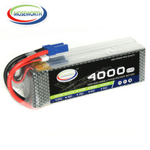 MOSEWORTH 6S RC LiPo Battery 22.2V 4000mah 40C-80C 6S Li-Po Battery for RC Helicopter RC Airplane Quadrotor Drone 6S Cell AKKU