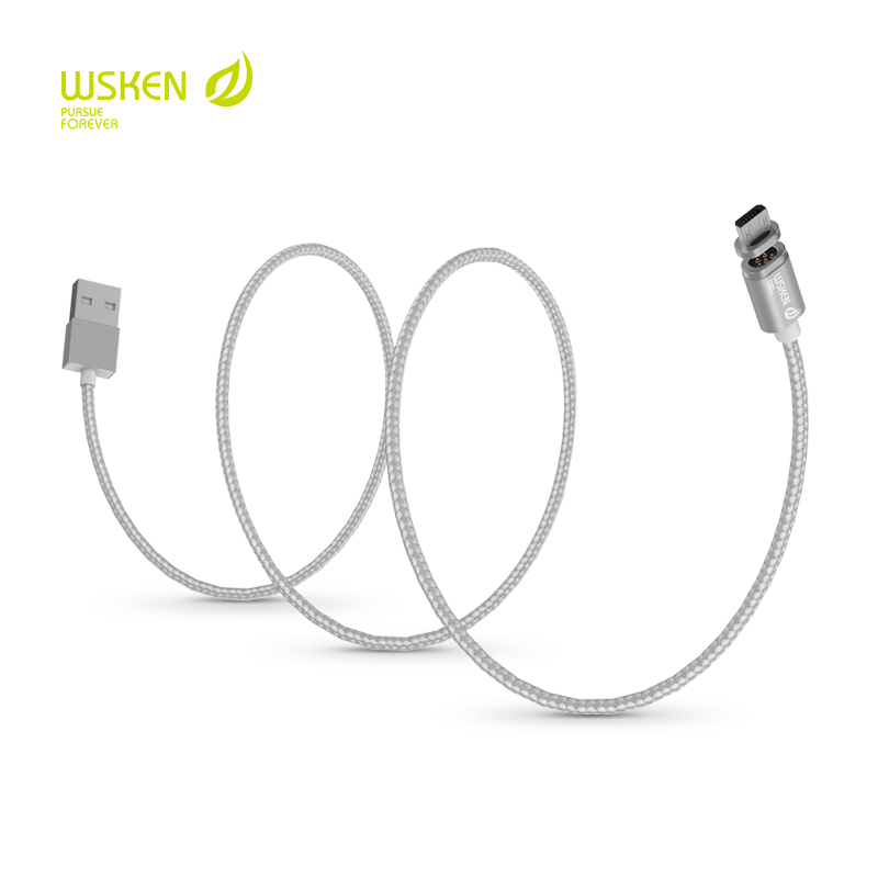WSKEN X Cable Metal Mini 2 Magnetic Charging Cable For Apple iPhone 7 Plus 6 6S