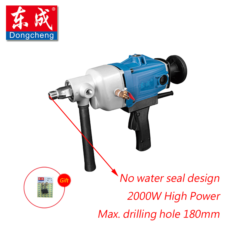 New 180mm Diamond Drill With Water Source (hand-held) 2000W Diamond Core Drill For Concrete Wall Electric Drill (No Water Seal) new 50mm concrete cement wall hole saw set with drill bit 200mm rod wrench for power tool
