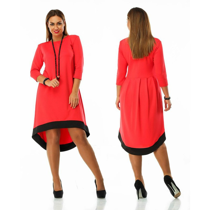 994cd27bf7 US $19.37 |Big Size Autumn Winter Dress Women Clothing Long Sleeve Ladies  Fashion Party Dresses Sexy Plus Size O Neck Casual Vestidos-in Dresses from  ...