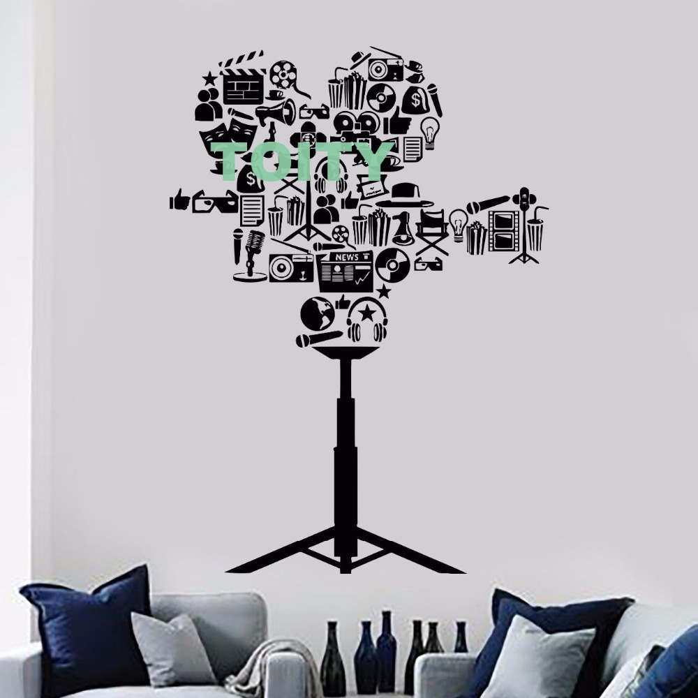 Vinyl Wall Cinema Cinematography Camera Filming Director Decal Sticker Home Room Interior Art Decor Creative Mural image