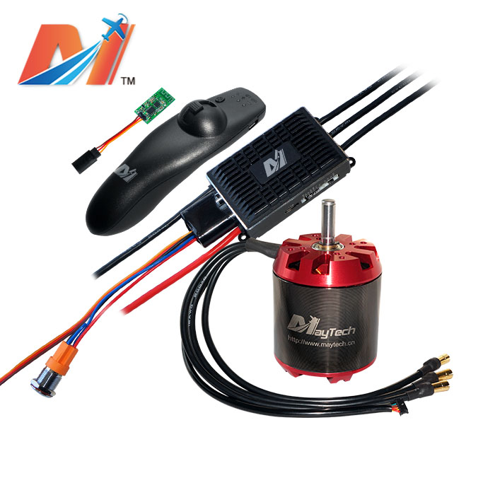 Maytech electric mountainboard kit VESC100A controller <font><b>6374</b></font> <font><b>190kv</b></font> <font><b>brushless</b></font> <font><b>motor</b></font> and remote image