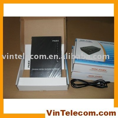 3 Lines +8 Ext Users - SOHO PBX / Small PABX -for small businss solution-Free Shipping small 100