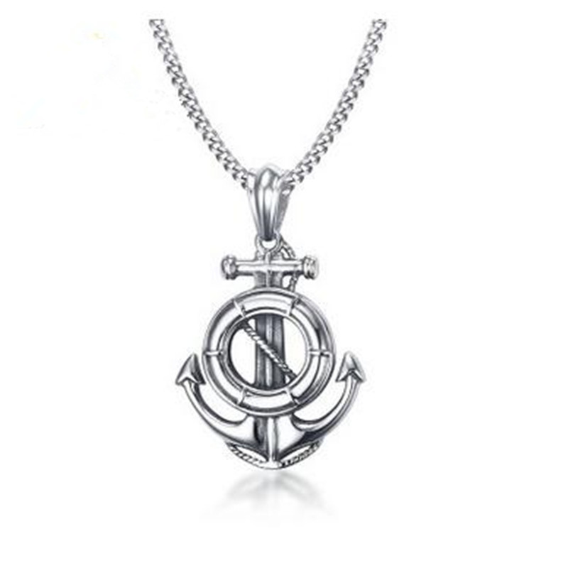 New Men's 4.9CM Stainless Steel Steel Anchor Pendant Original Necklace Jewelry - Exquisite PN-786S
