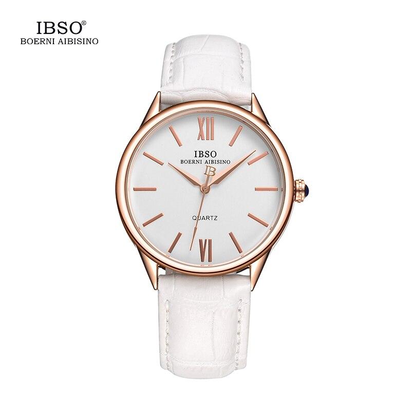 IBSO Watches Men 2018 Top Brand Luxury Quartz Watches Men Clock Leather Strap Wristwatches Waterproof Relogio Masculino #3822