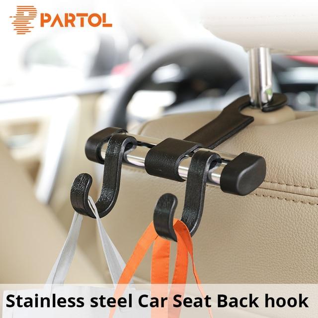 Partol Auto Fastener Clip Universal Car Seat Back Hook Vehicle