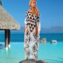 Swimsuit Cover Up Beach Woman Outlet Ups Black White Beachwear Dresses Long Maxi Dress For Women Bikini 2019 Summer