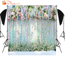 цены LIFE MAGIC BOX Photophone Wedding Photo Background Bridal Bachelor Party Photography Backdrops Photon Flower Wall Fotografia