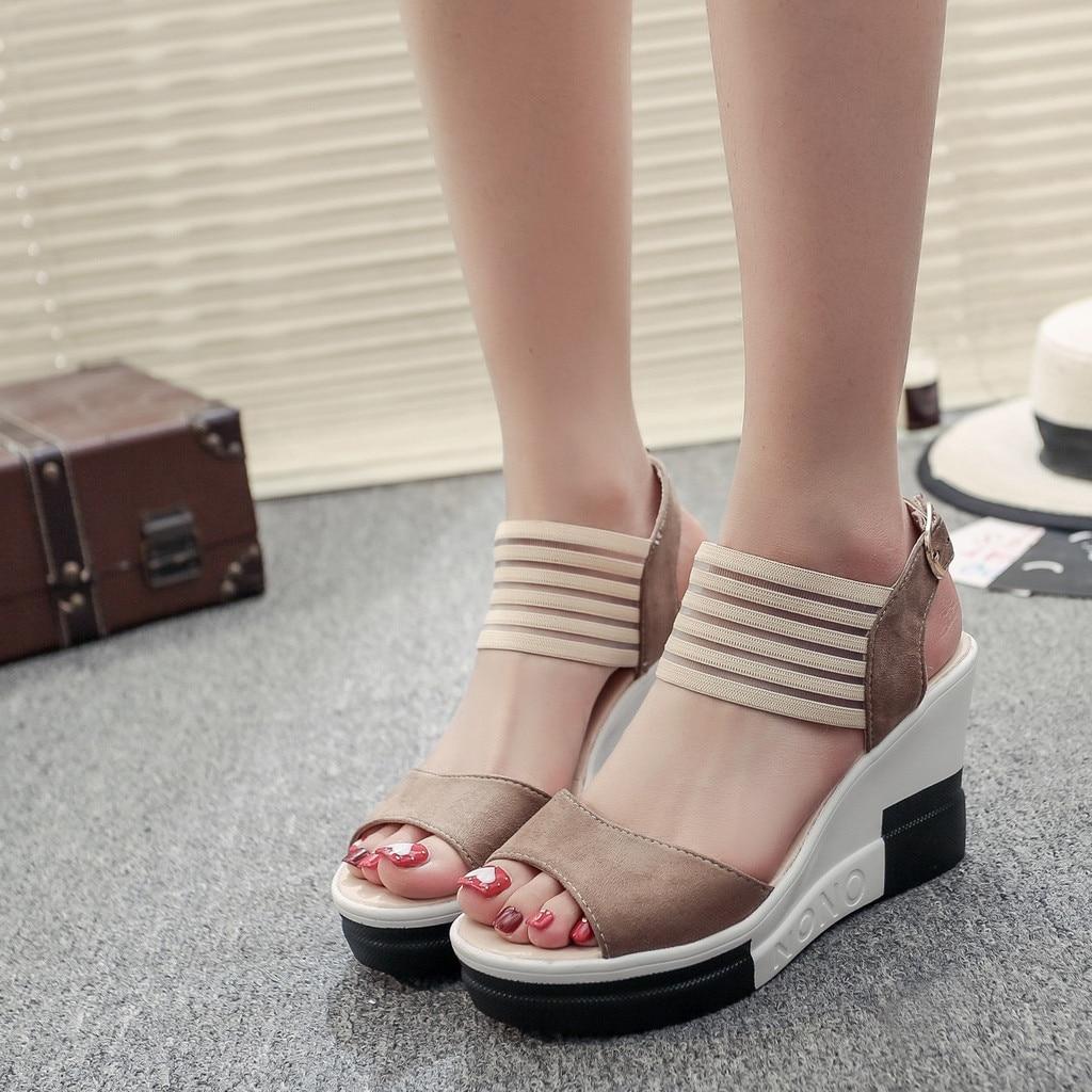 HTB1v0FkayHrK1Rjy0Flq6AsaFXah new fashion Wedge women Shoes Casual Belt Buckle High Heel Shoes Fish Mouth Sandals 2019 luxury sandal women buty damskie