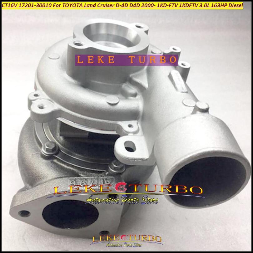 Turbo Turbocharger CT16V 17201-30010 17201 30010 1720130010 For TOYOTA Land Cruiser LandCruiser D-4D 1KD-FTV 1KD FTV 1KDFTV 3.0L