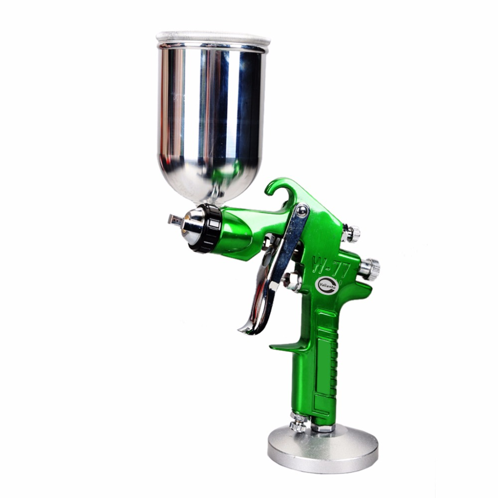W77-G Professional Paint Spray Gun Green Gravity Feed Pneumatic Airbrush For Painting Car Air Tools