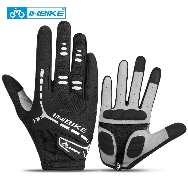 INBIKE Cycling Gloves Outdoor Sport Gloves Full Finger MTB Mountain Road Bike Bicycle Gloves For Mens Women Fitness Gloves 206