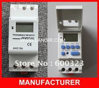AHC15A Microcomputer Electronic Programmable Digital TIMER SWITCH With 250V 16A Din Rail Mount