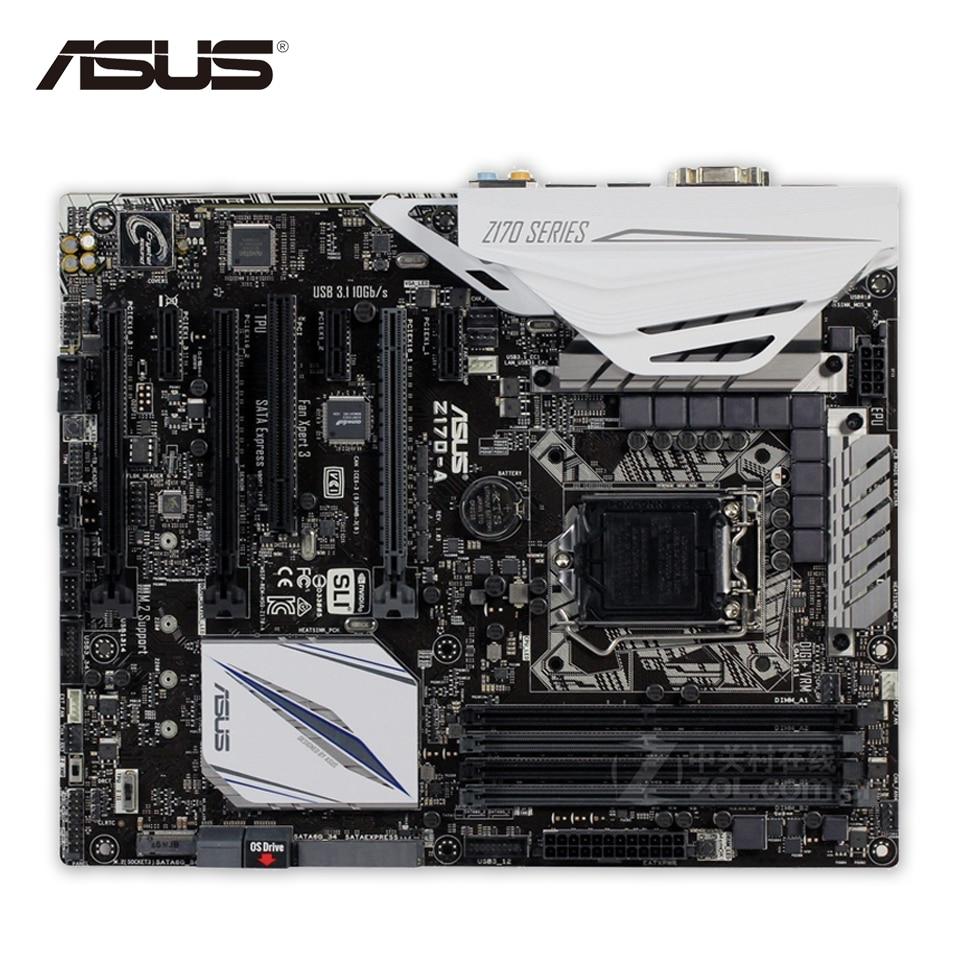 Asus Z170-A Original New Desktop Motherboard Z170 Socket LGA 1151 i7 i5 i3 DDR4 64G SATA3 USB3.0 ATX On Sale