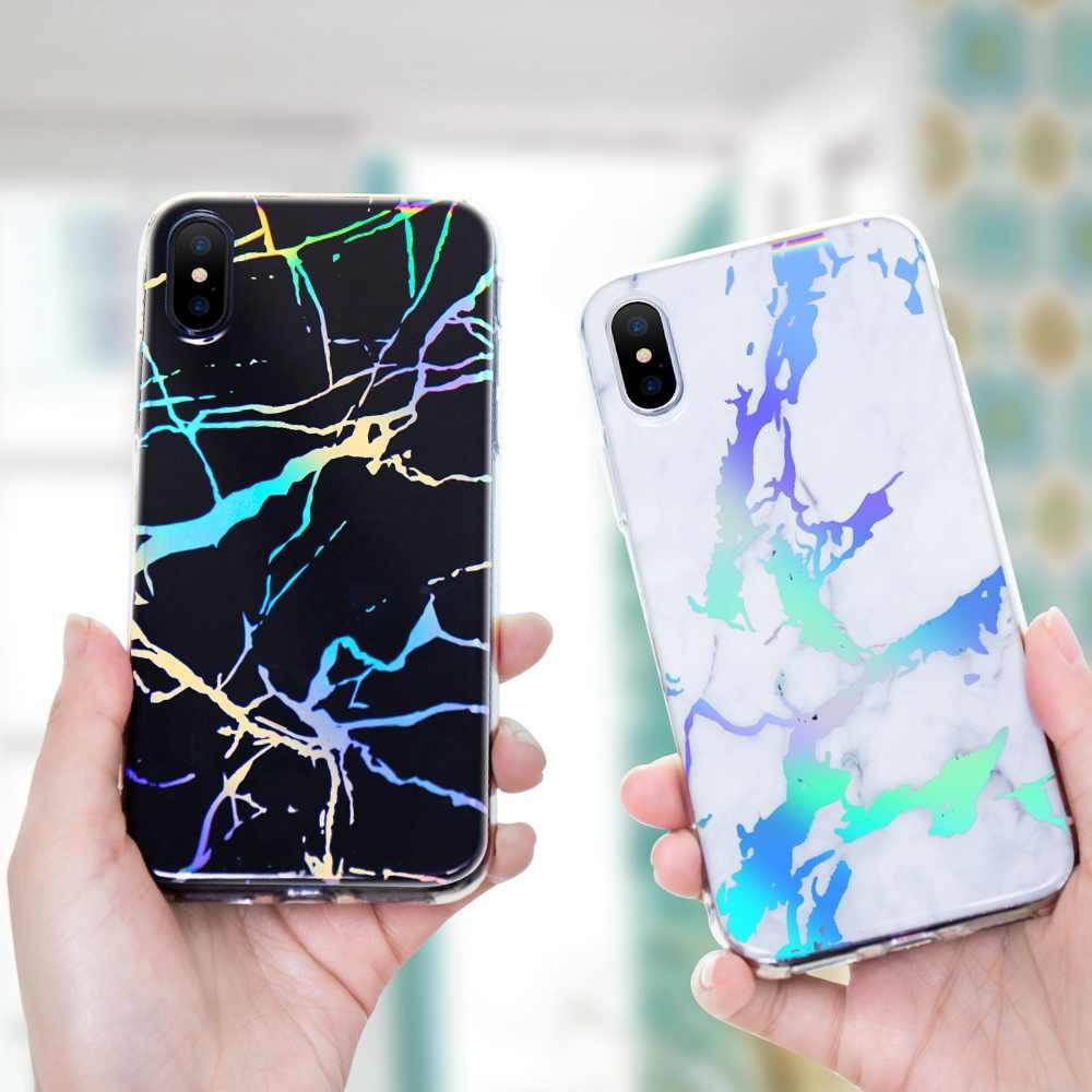 KISSCASE роскошный Мрамор чехол для iPhone x 7 8 Plus 6 S мягкий силиконовый Iphone 5 5s se IMD задняя