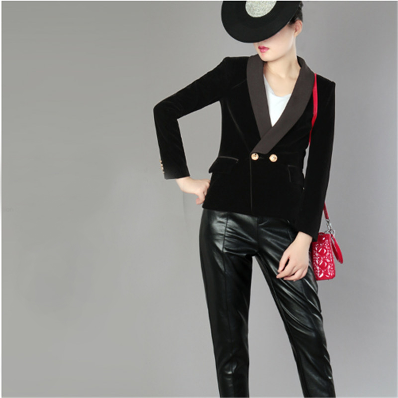 Spring Blazer Women Slim Fit Formal Jacket Office Work One Button Long Sleeve Solid Colo ...