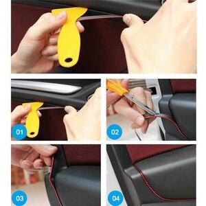 Image 5 - Dropship 5M Auto Styling Innen Außen Dekoration Streifen Molding Trim Dashboard Tür Rand für Auto Auto Zubehör