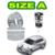 2 Pçs/lote Auto-Tipo (Um tamanho) com a Mola Do Carro Transparente Damper Rubber Shock Absorber Primavera Bumper Poder Cushion Buffer
