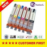 6PCS For PGI470 PGI 470 PGBK CLI 471 BK C M Y GY Refillable Ink Cartridges