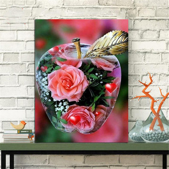HUACAN 5D DIY Diamond Painting Scenic Full Square Diamond Embroidery Flower Cross Stitch Mosaic Crystal
