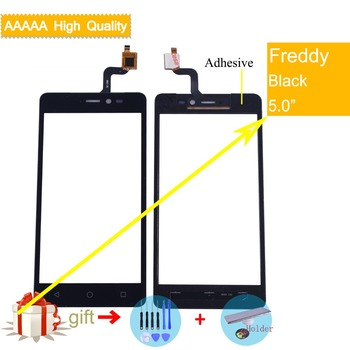 For Wiko Freddy Touch Screen Panel Sensor Digitizer Front Outer Glass Touchscreen Freddy Touch Panel Replacement Black цена 2017