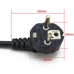 Высокое качество ЕС Европейский 3 зубец 2 Pin AC Шнур питания для ноутбука Asus HP Sony Dell Lenovo Acer Sumsung Toshiba Fujitsu Бесплатная доставка