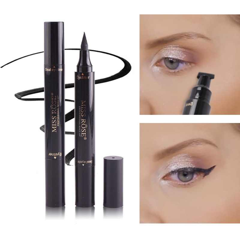 1 Pcs Black Liquid Eyeliner Pencil Quick Dry Waterproof Eye Liner Black Color With Beauty Eye Pencil Eyeliner Eye Pencil Stamp
