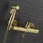 In ottone Caldo e Freddo Mixer Bagno Wc Spruzzo Portatile Con Supporto Doccia Palmare Bidet spruzzatore Rubinetto ugello sedile cleaner