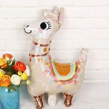 1pcs/lot Lama Alpaca balloon aluminum foil balloon kids birthday party decoration baby shower party supplies kids toy gift(China)