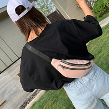 Waist Bag Women 2019 New Canvas Leisure Panelled chest  bags For Girls Letter Bum Bag Packs fashion Chest Crossbody bag Belt new